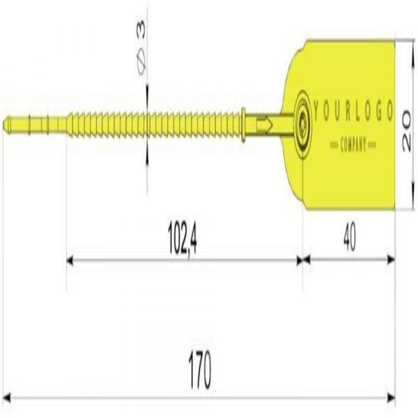 """Пломба Контроль """"Банксил"""" 125 мм"""