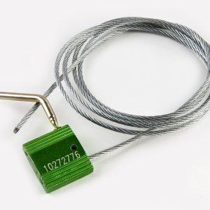 Тросовая пломба ЗПУ длина 500 мм, диаметр  1,2 мм