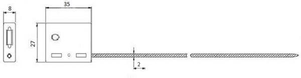 Тросовая пломба ЗПУ длина 0,5 м, диаметр  2 мм