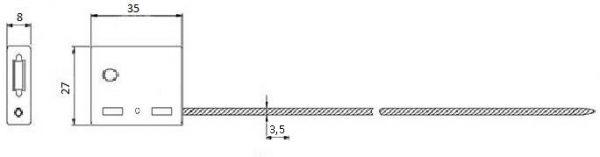 Тросовая пломба ЗПУ длина 300 мм, диаметр  3,5 мм