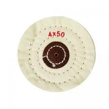 Круг муслиновый CROWN белый d-150мм, 12 слоев (с кож. пятаком)