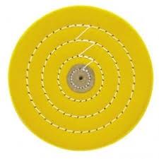Круг муслиновый CROWN желтый d-150 мм, 50 слоев