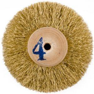 Щітка латунна 5-ти рядна d-70 мм на дерев'яному диску 301-252