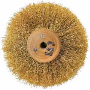 Щітка латунна 5-ти рядна d-85 мм, на дерев'яному диску, 301-252