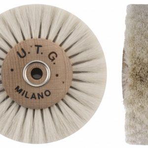 Щітка волосяна (паралельна) UTG м'яка 4-х рядна d-80 мм (53800 M80X4L) на дерев'яному диску