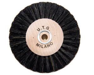 Щітка волосяна (паралельна) UTG жорстка 4-х рядна d-80 мм (52100 M80X4L) на дерев'яному диску