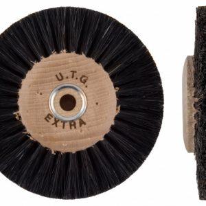 Щітка волосяна (стисла) UTG жорстка 3-х рядна d-80 мм (42100 M80X3L) на дерев'яному диску