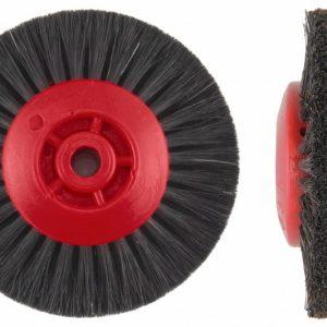 Щітка волосяна (стисла) UTG жорстка 4-х рядна, d-80 мм (42100М77Х4) на пластмасовому диску