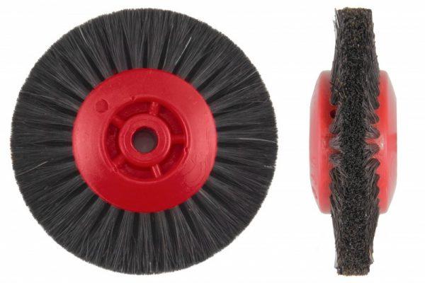 Щетка волосяная (сжатая) UTG жесткая 4-х рядная, d-80 мм (42100М77Х4) на пластмассовом диске
