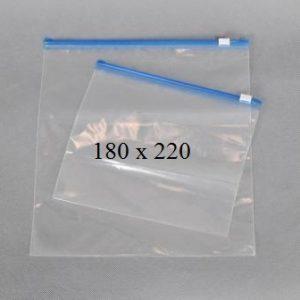 Пакет із замком слайдером (бегунком) 180 х 220 мм, пакети для заморозки