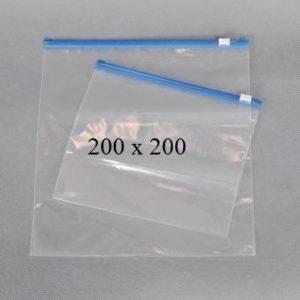 Пакет із замком слайдером (бегунком) 200 х 200 мм, пакети для заморозки