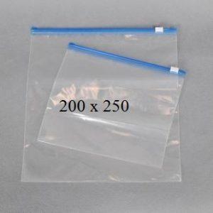 Пакет із замком слайдером (бегунком) 200 х 250 мм, пакети для заморозки