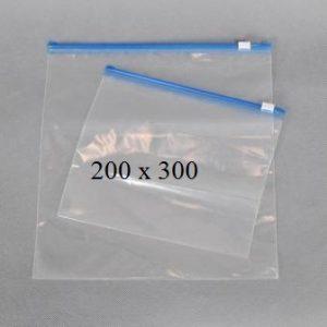 Пакет із замком слайдером (бегунком) 200 х 300 мм, пакети для заморозки
