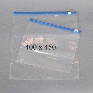 Пакет із замком слайдером (бегунком) 400 х 450 мм, пакети для заморозки