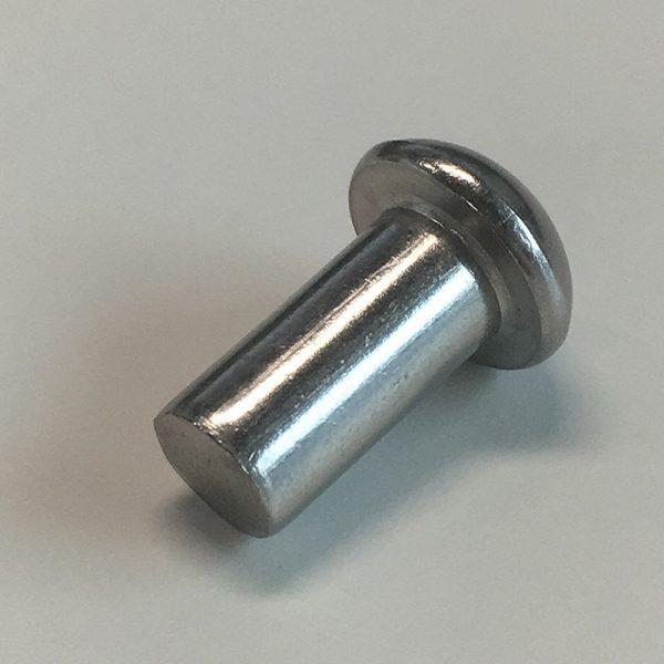 Заклепка алюминиевая 4х10 с полукруглой головкой под молоток DIN 660 (уп.)